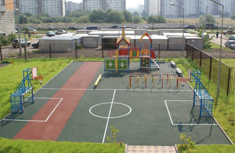 В Уфе строится спортивная площадка для детей-инвалидов